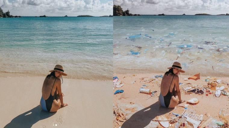 Hát ezeken a trendi tengerparti képeken miért van egy tonna szemét? kép