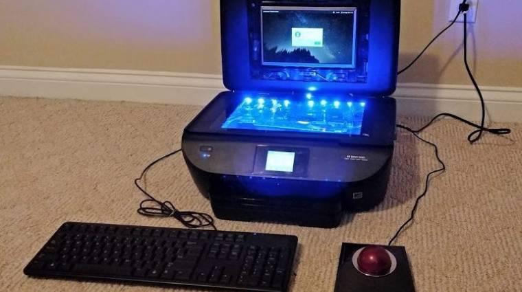 PC-t építettek a nyomtatóba, ami még nyomtatni is tud kép