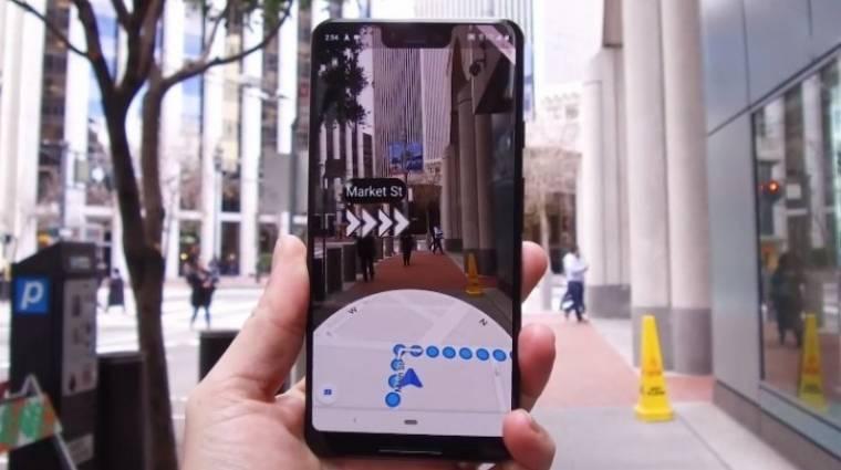Egyre több mobilon navigál élőképpel a Google Térkép kép