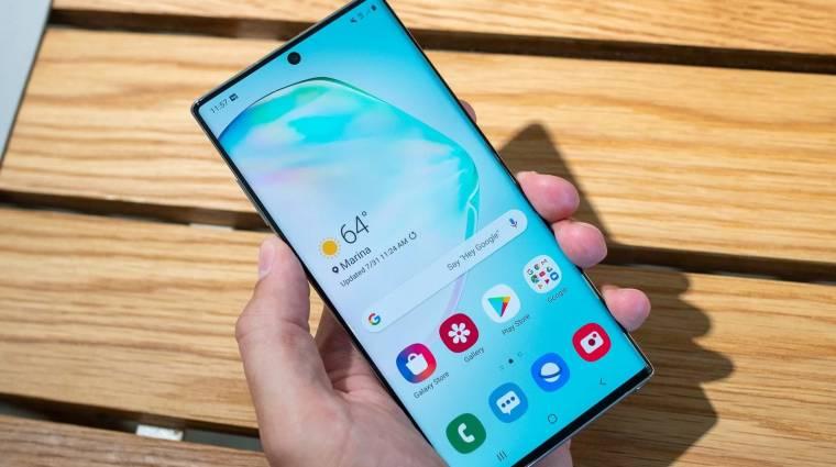 Ezért nincs jackcsatlakozó a Galaxy Note 10 mobilokban kép