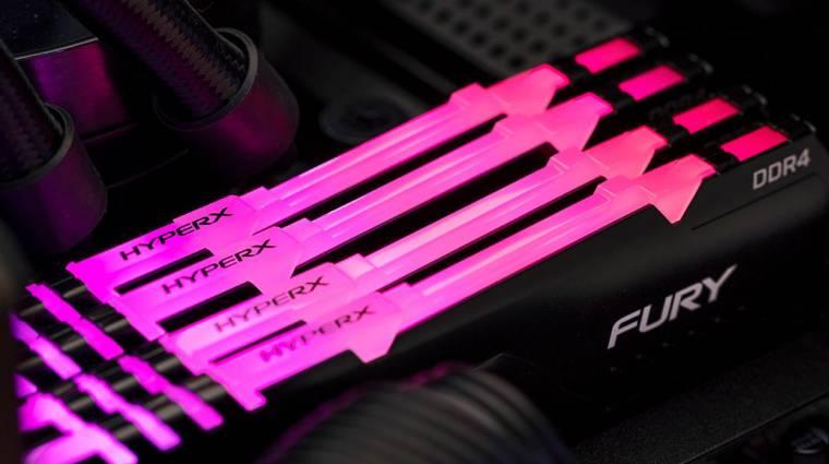 Végre RGB-s kiadásban is van HyperX Fury DDR4 RAM kép