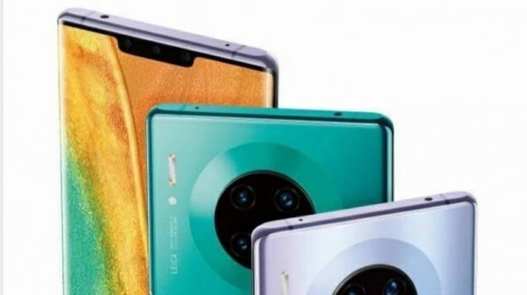 Így néz ki a Huawei Mate 30 Pro négy különleges hátlapi kamerája kép