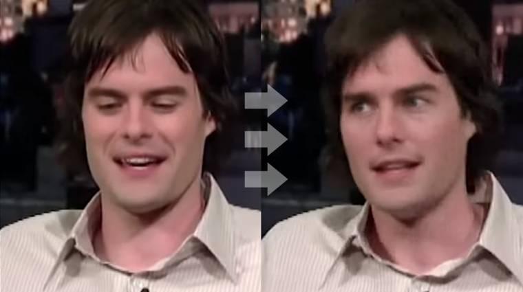 Ijesztő és lenyűgöző Tom Cruise arca egy másik színész fején kép