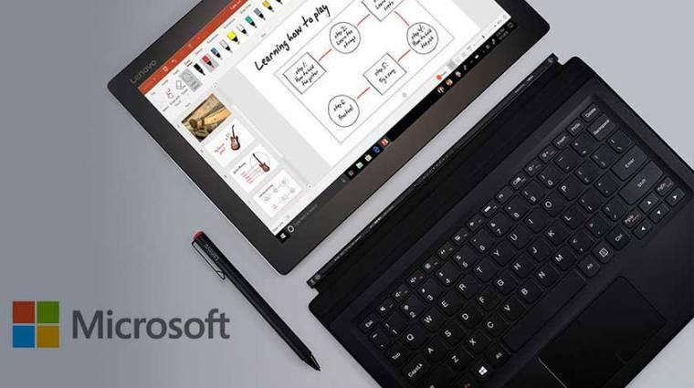 Táblagépes élményt tesztel a Windows 10 kép