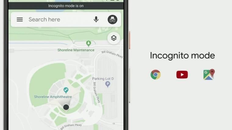 Inkognitómódot kap a mobilos Google Térkép kép