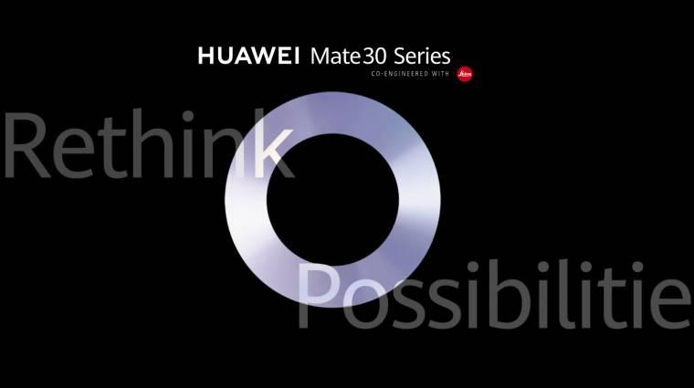 Megvan, hogy mikor jön a Huawei Mate 30 Pro kép
