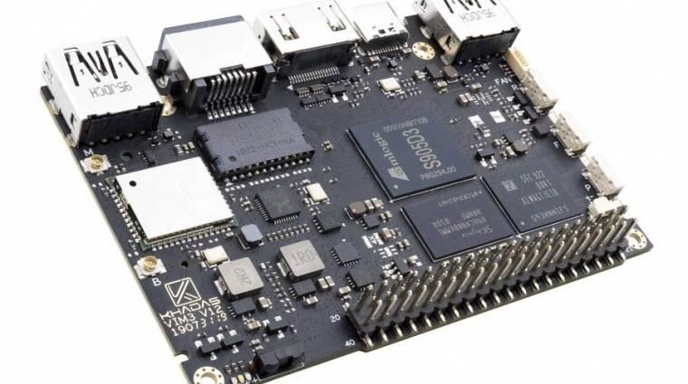 Jó lehet HTPC-t építeni a Khadas VIM3L lapka PC kép