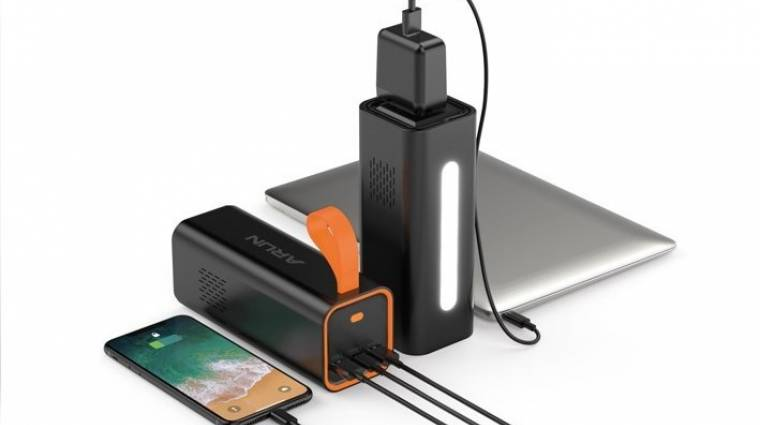 100 wattal is tudja tölteni a laptopod az Arun energiaállomás kép