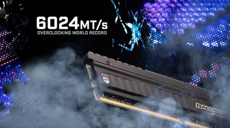 AMD processzor mellett pörgette 6024 MHz-re a DDR4-es memóriáját a Crucial kép