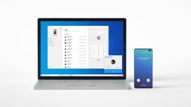 Androidos mobilról telefonálna a Windows 10 kép