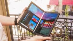 Jövőre jön az összehajtható kijelzős Lenovo notebook kép