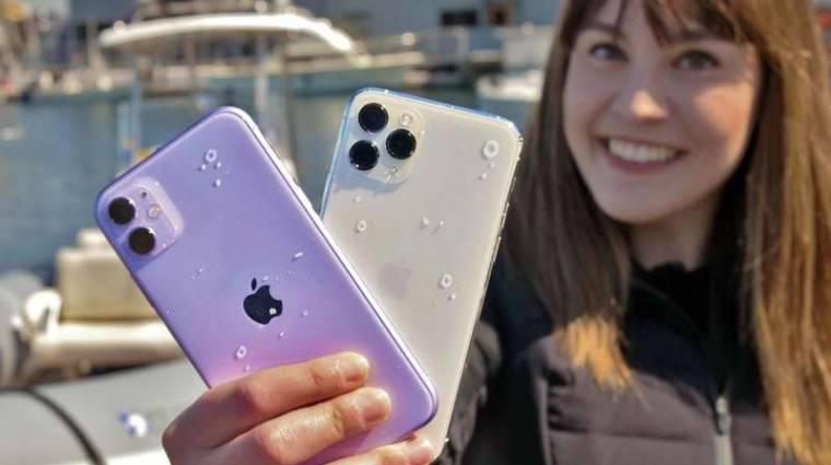 12 méteres vízmélységet is túlélnek az iPhone 11 Pro mobilok kép