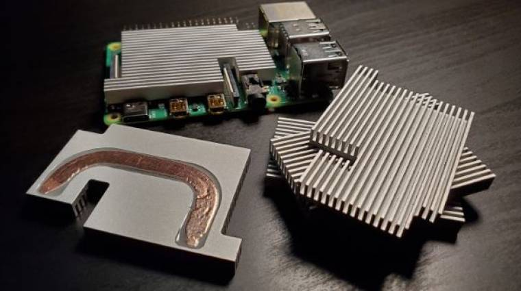 Alacsony profilú hűtő készült a Raspberry Pi 4-hez kép