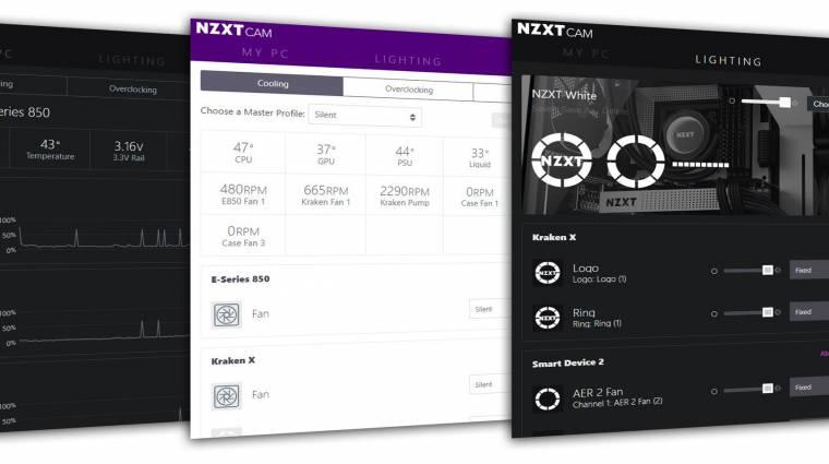 Frissült az NZXT PC-figyelő szoftvere kép