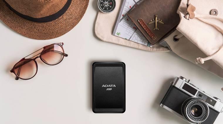 Lapos és hordozható az ADATA új külső SSD-je kép
