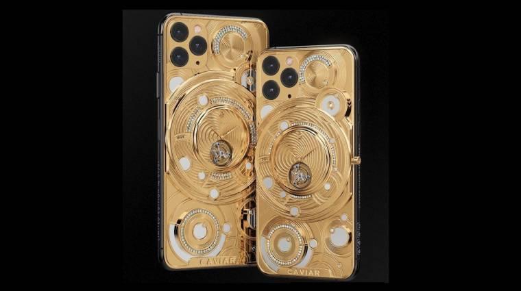 Fél kiló aranyat ragasztottak az iPhone 11 Pro hátuljára kép