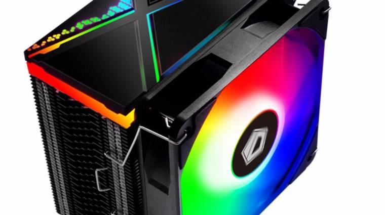 Az ID-Cooling processzorhűtőjéről sem hiányzik az ARGB-s világítás kép