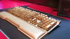 Elbújhat az RGB, itt a 24 karátos arannyal bevont billentyűzet kép