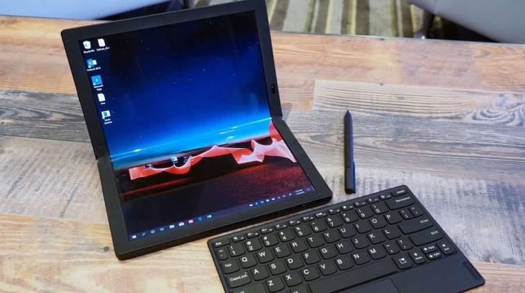 Elég drága lesz, de idén érkezik a Lenovo összehajtható laptopja kép
