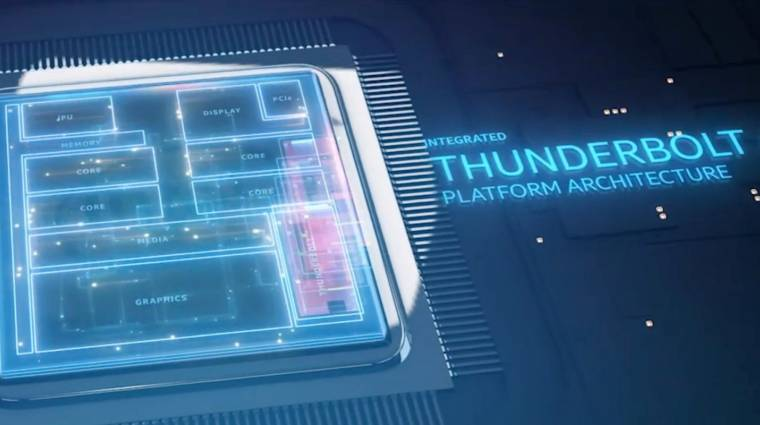 Már a Thunderbolt 4 csatlakozóval villog az Intel kép