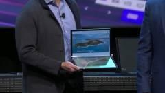 Gigantikus hajtogatható laptopot mutatott az Intel kép