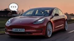 Gyere, pattanj be te is! - szólt a gyalogosra a Tesla kép
