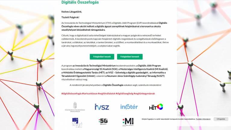 Digitális Összefogás: ITM-bejelentés kép
